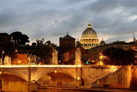 bridge_vittorio_emanuele_ii_at_sunset